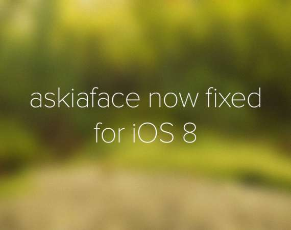 Askiaface now fixed for iOS 8!