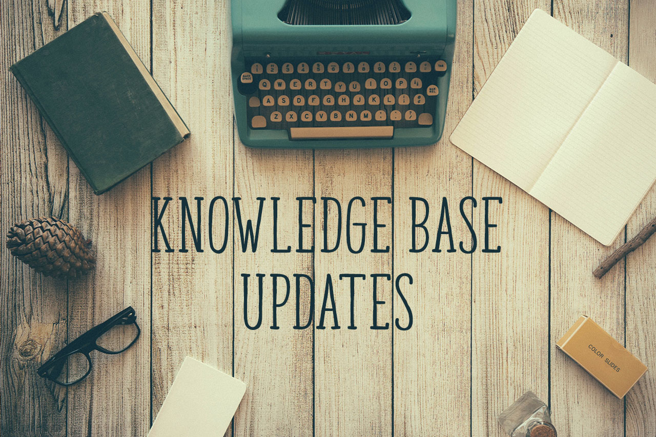 Knowledge base updates header image
