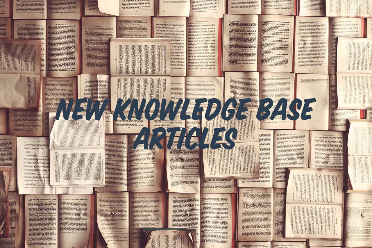 New Knowledge Base articles header