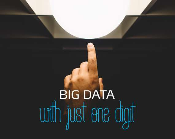 Big data with one digit header image