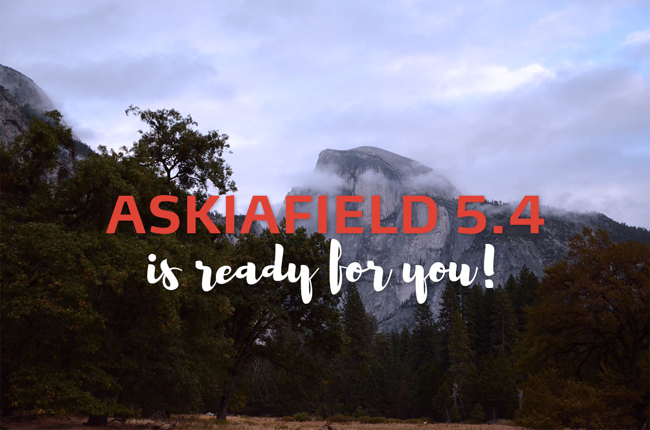 AskiaField 5.4 is ready for you header