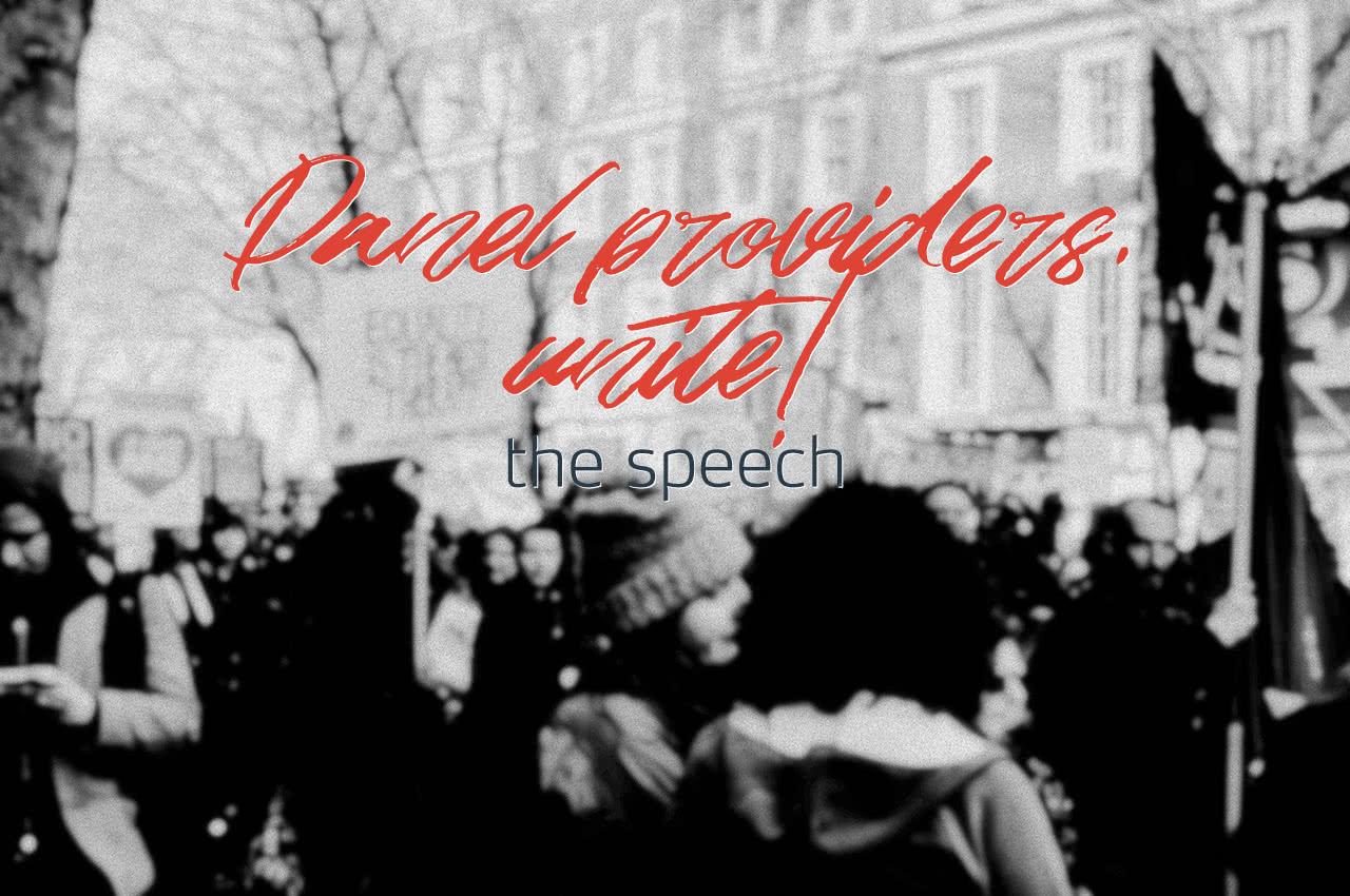 Panel providers, unite! The speech