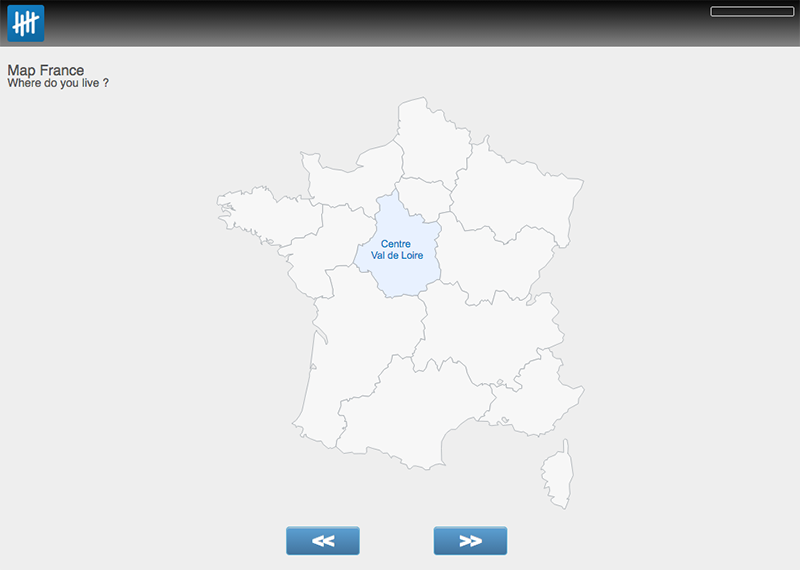 France map survey control screenshot