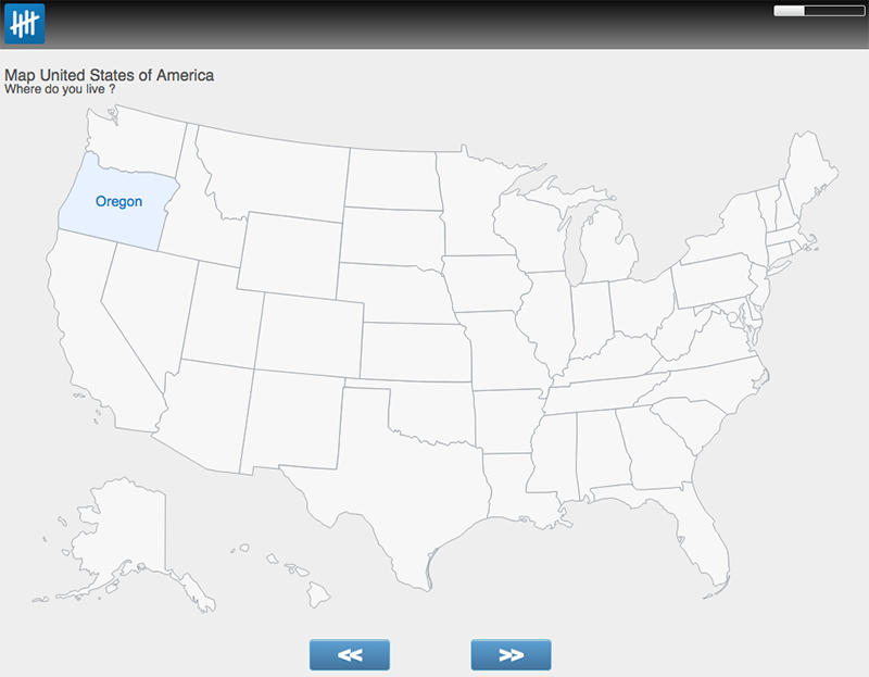 USA map survey control screenshot