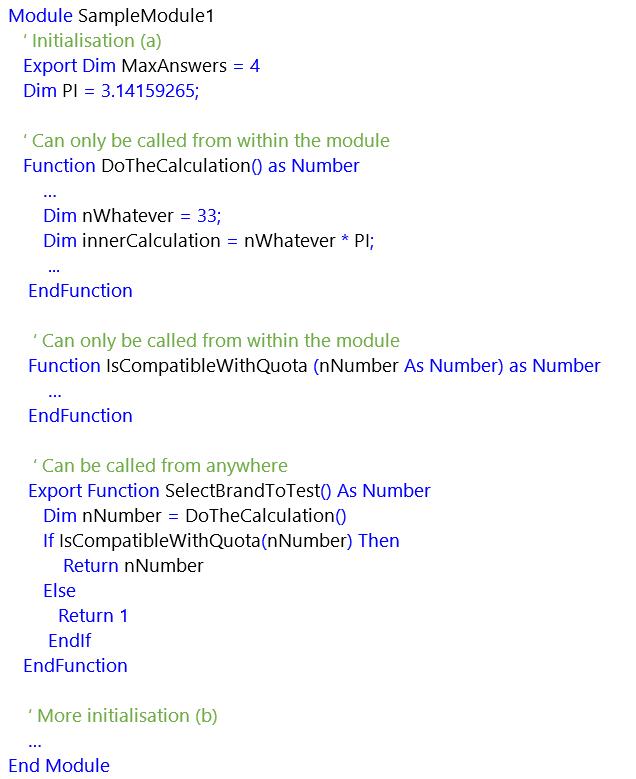 Script Module screenshot