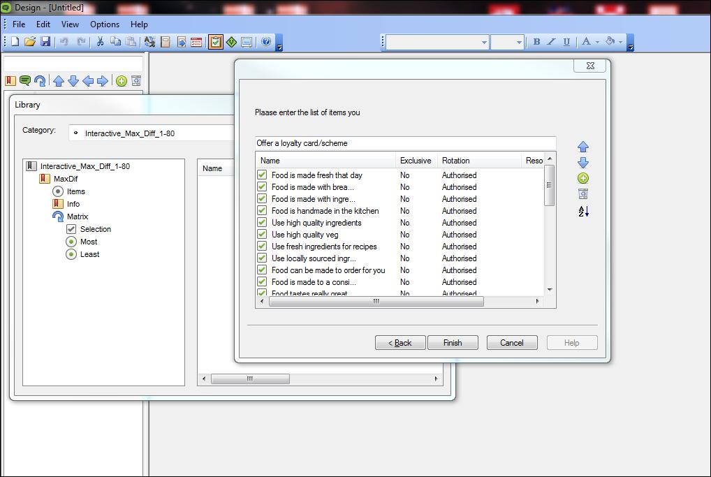 MaxDiff interactive library